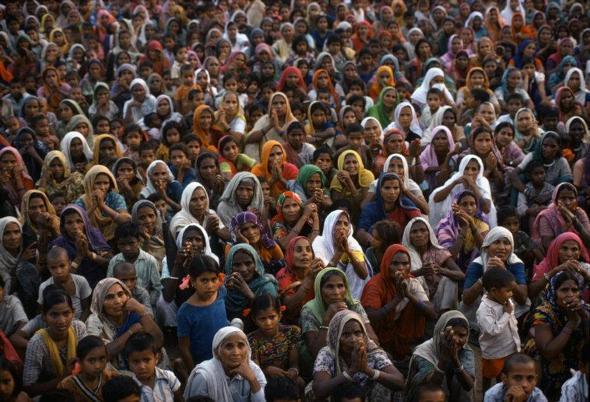 INDIA. Audience for  Indira Gandhi